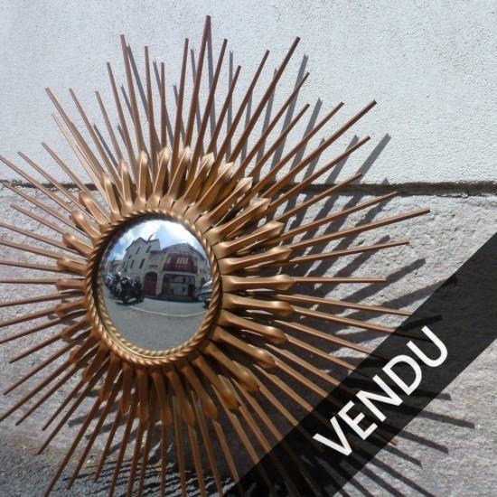 miroir de sorcière, double, signé Chaty Vallaris, miroir convexe