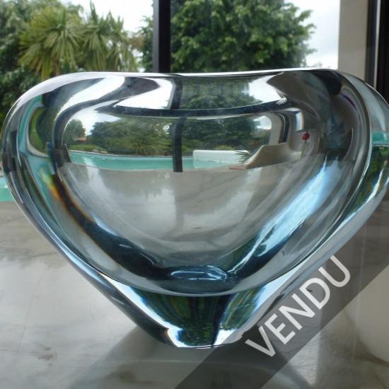 Vases coeur de Per Lutken (1916/ 1998) verrier phare de Holmegaard ,vases coeur dans les années 60