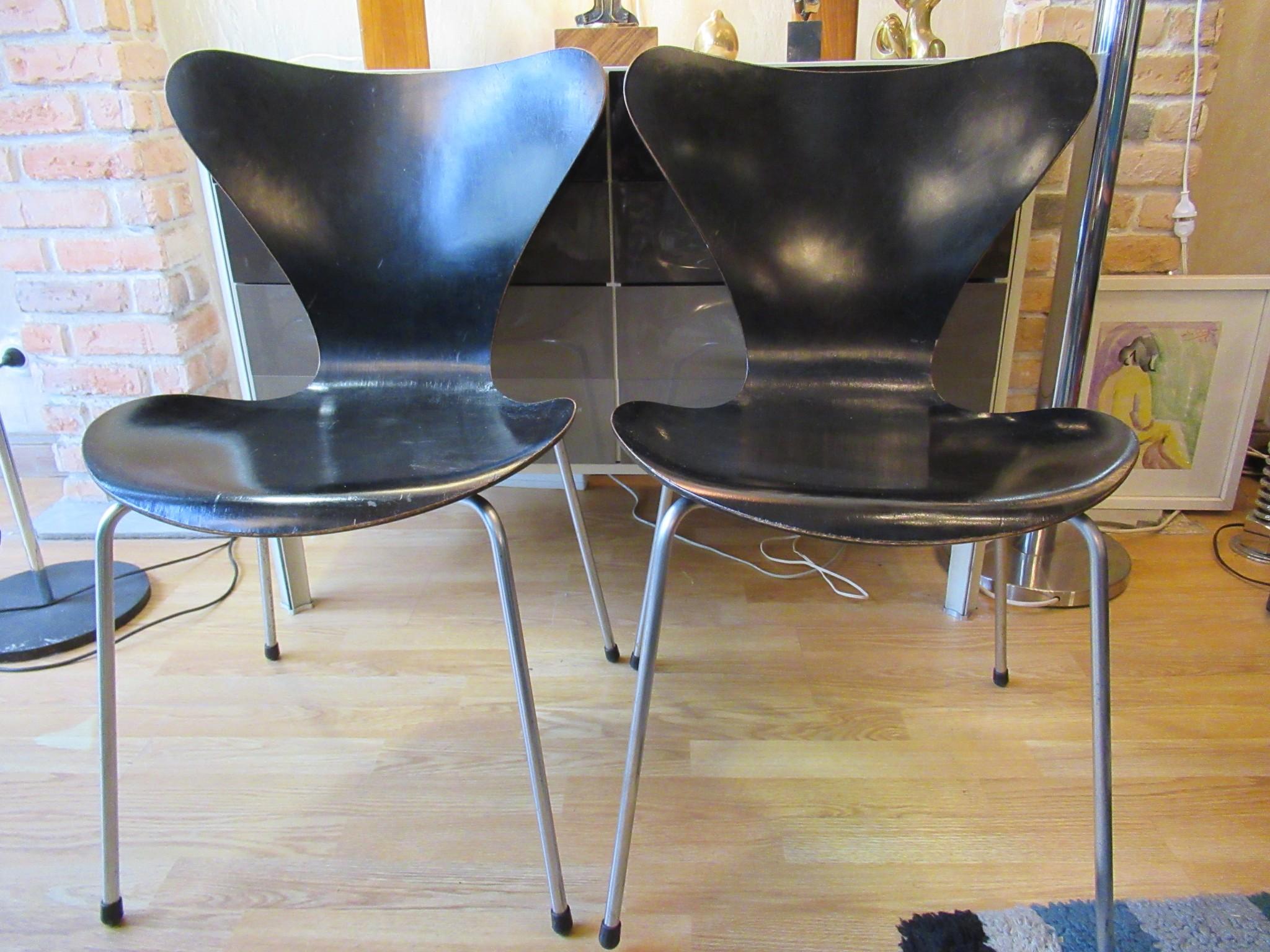 Arne Jacobsen paire de chaises