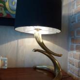 lampe en bronze doré