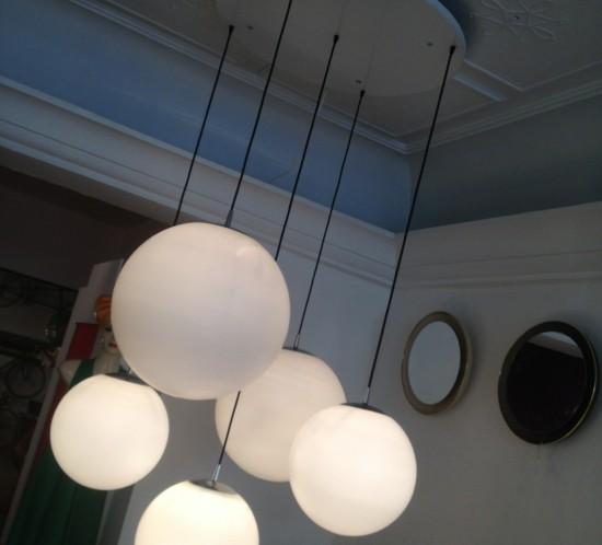 suspension boules en verre