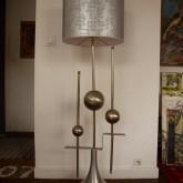 lampadaire 1970 métal poli
