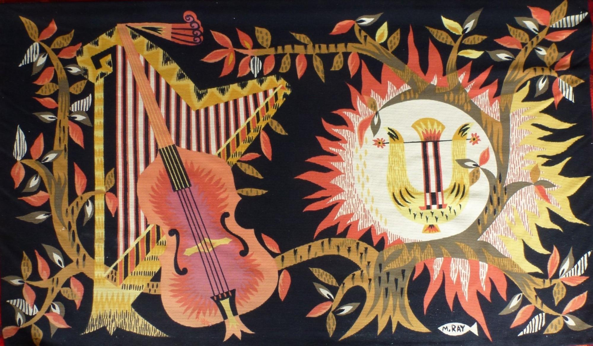 M Ray pour atelier Robert Four à Aubusson, tapisserie