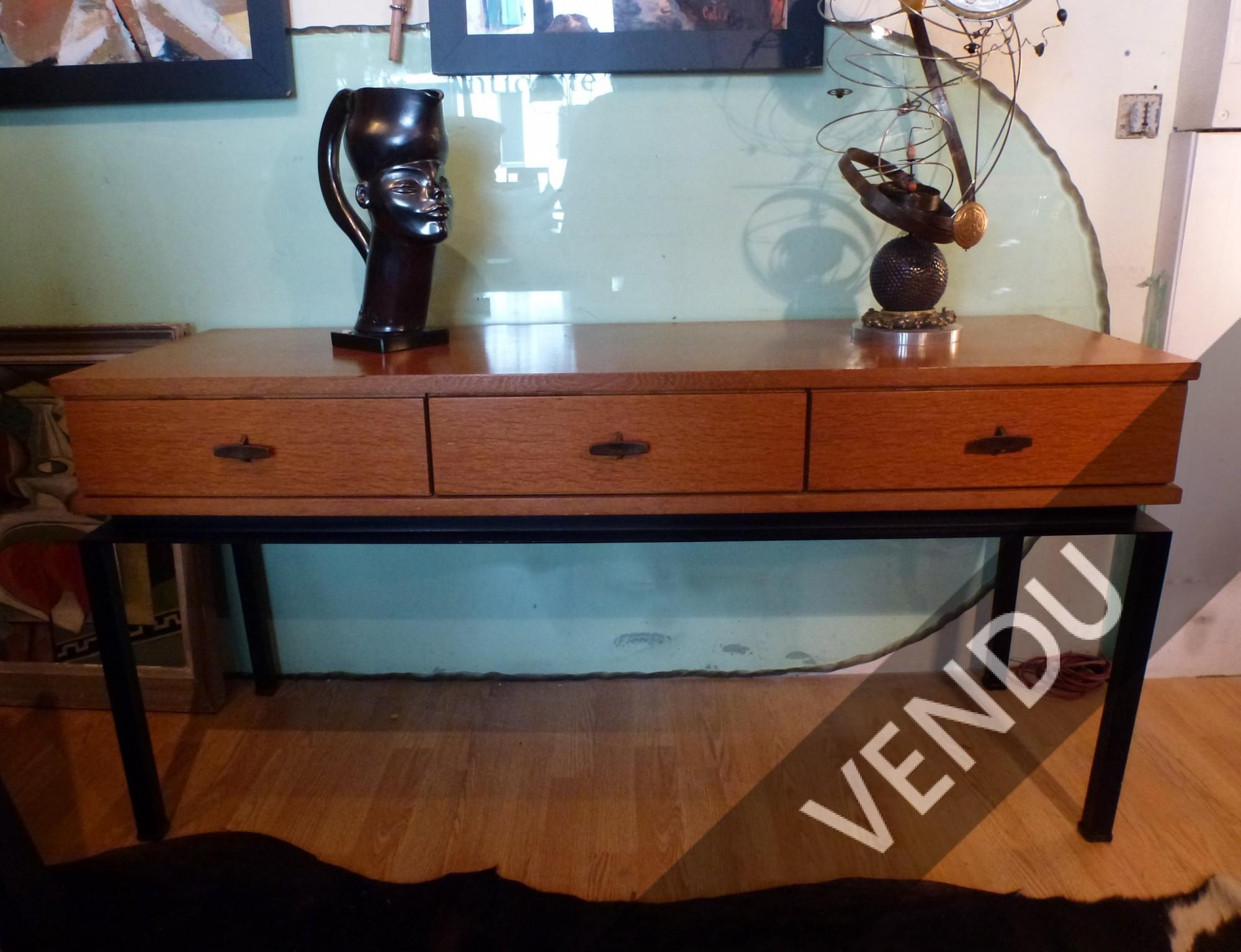 meuble à tiroirs, console de Marcel Gascoin