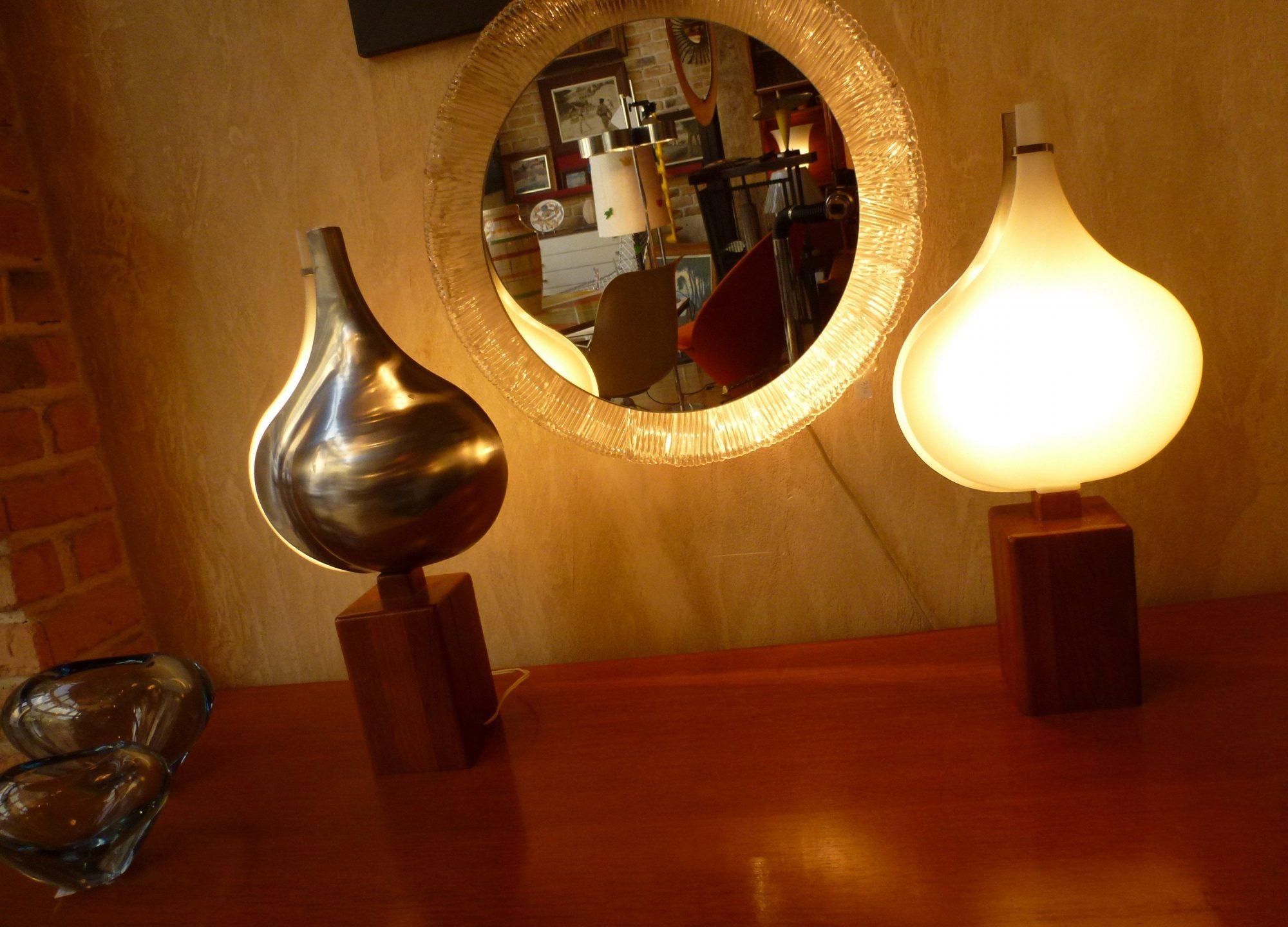 Paire de lampes Létang et Rémy