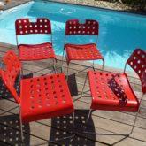 4 chaises de Rodney Kinsman