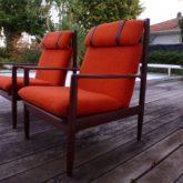 Grete Jalk paire de fauteuils